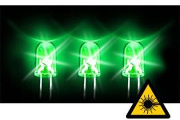 5mm hyper-bright LED green 12000mcd 20? 3.0V
