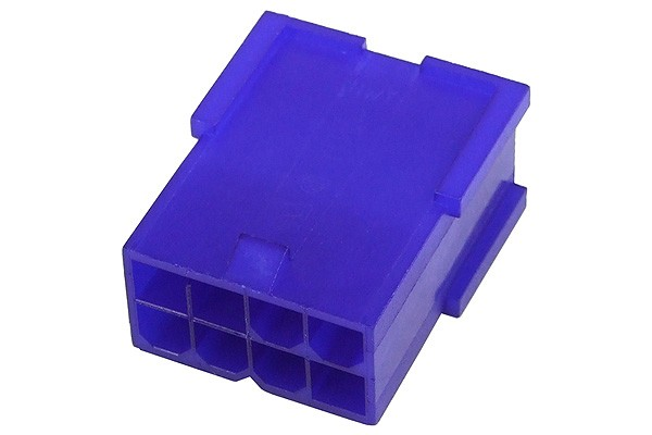 mod/smart VGA Power Connector 8Pin socket - UV-reactive purple