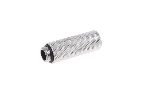 Extension G1/4 to G1/4 50mm - knurled - silver nickel plated
