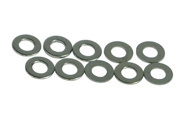 Washers DIN 125 M4 - black nickel (10pcs pack)