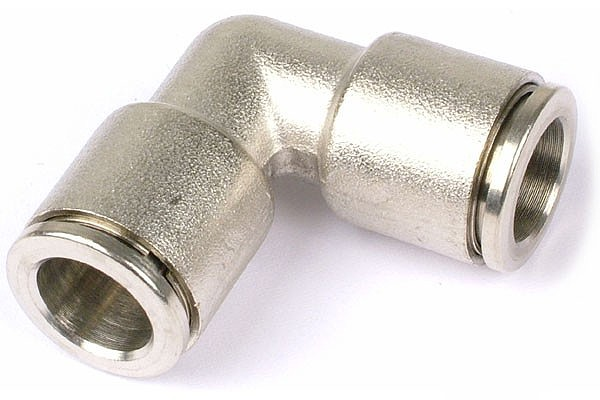 8mm L plug fitting - complete nickel plated