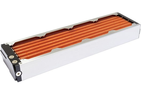 Aquacomputer airplex modularity system 480 mm, copper fins, one loop, stainless steel side panels
