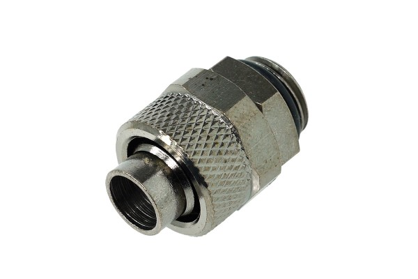 13/10mm (10x1,5mm) compression fitting outer thread 1/4 - black nickel