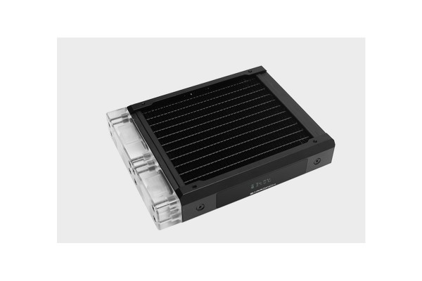BarrowCH Chameleon Fish series removable 120mm Radiator with display screen PMMA edition - Classic Black