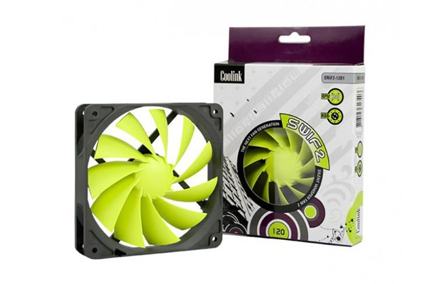 Coolink SWiF2-120P 27,1 dB/A 1700 rpm ( 120x120x25mm )