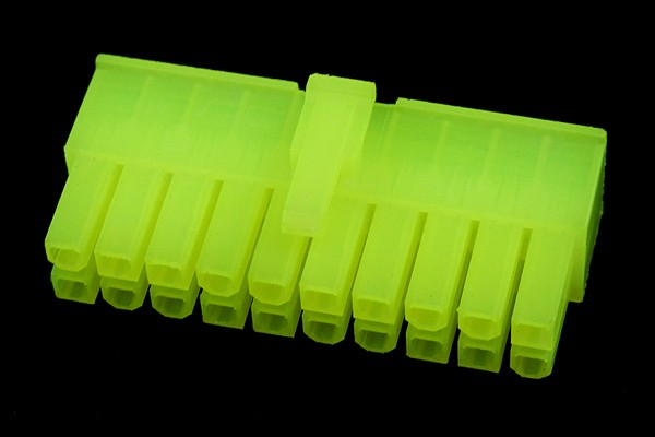 mod/smart ATX Power Connector 20Pin plug - UV-reactive brite green