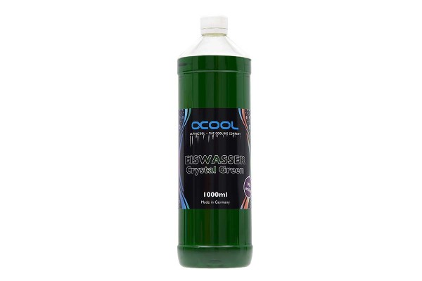 Alphacool Eiswasser Crystal Green UV-active premixed coolant 1000ml