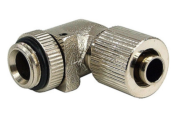 10/8mm (8x1mm) compression fitting G1/4 90° revolvable - compact - silver