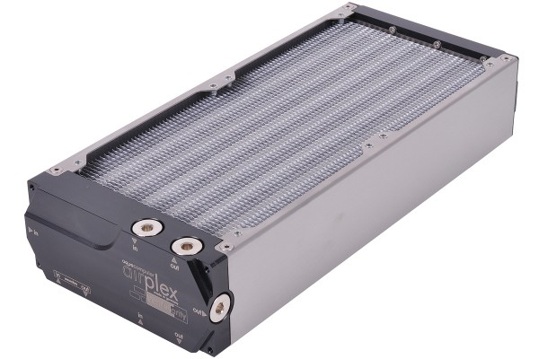 Aquacomputer airplex modularity system 280 mm, aluminum fins, two circuits, stainless steel side panels