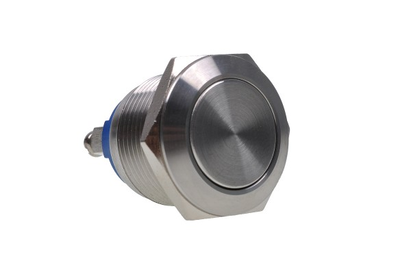 Phobya vandalism-proof button 19mm stainless steel - no lighting with screwed contact
