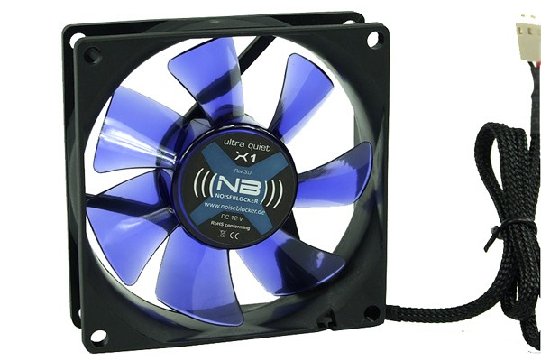 Noiseblocker NB-Blacksilent Fan X1 Rev. 3.0 ( 80x80x25mm )