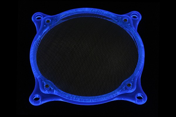 air filter Mesh 120mm frame UV-blue