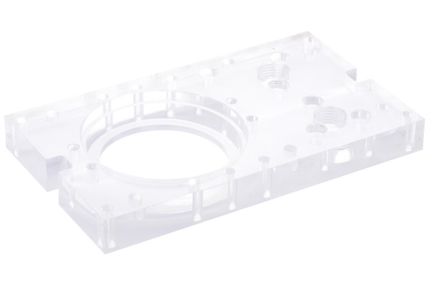 Alphacool Repack - Single Laing D5 - Dual 5,25 Bay Station - back panel