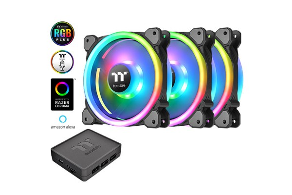 Thermaltake Riing Trio 12 LED RGB TT Premium Edition 3er Pack (120x120x25mm)