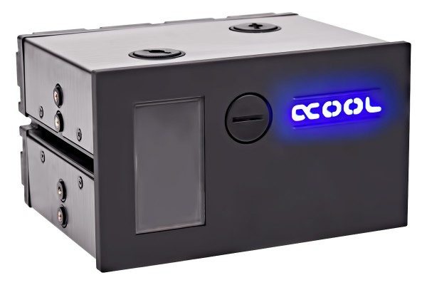 Alphacool Eisfach - Single Laing DC-LT - Dual 5,25 Bay Station incl. 1x Alphacool DC-LT 2400
