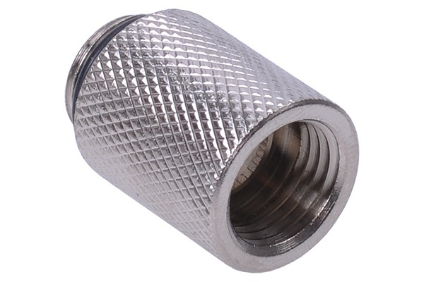 Extension G1/4 to G1/4 25mm - knurled - silver nickel plated