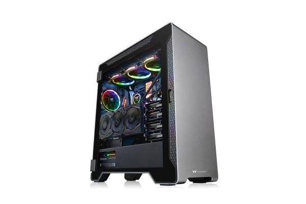 Thermaltake A500 TG Midi Tower Gehäuse - black incl. window