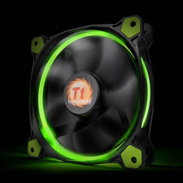 Thermaltake Riing 14 LED green, casefan - (120x120x25mm)