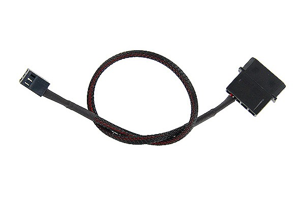 ModMyToys 4-Pin Male to 3-Pin male Cable Adapter 30cm - Black