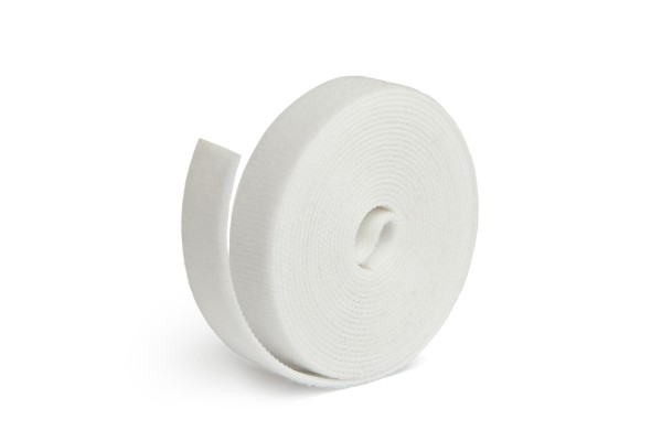 Label The Cable Hook and Loop Tape LTC ROLL STRAP, 9.8 ft, white