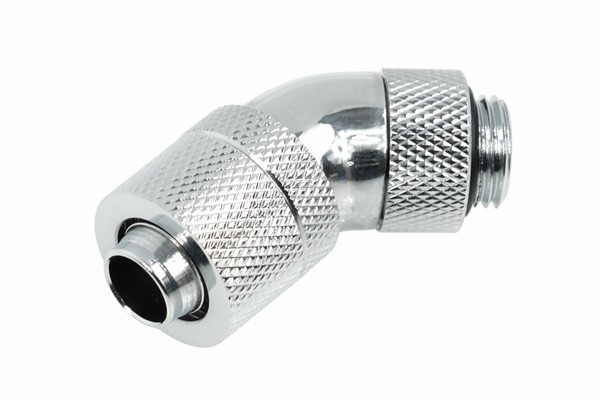 Alphacool HF 13/10 compression fitting 45° revolvable G1/4 - Chrome
