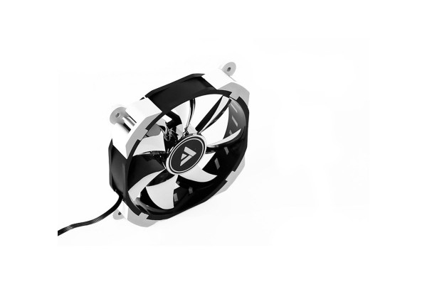 Barrow RGB unadjustable PWM rariator fan - White