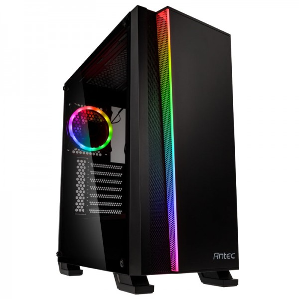 Antec NX500 Midi-Tower PC case - Black with glass window