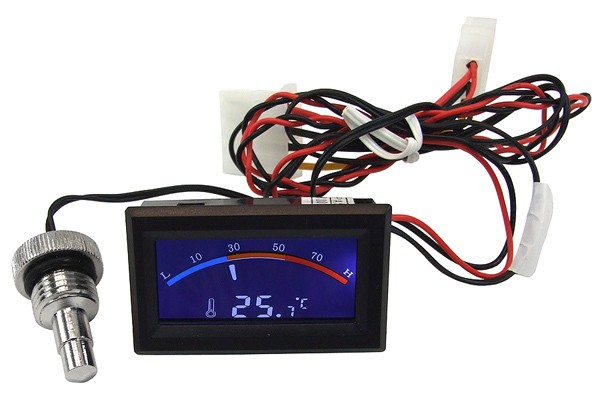 Temperature sensor G1/4 with C/F Display