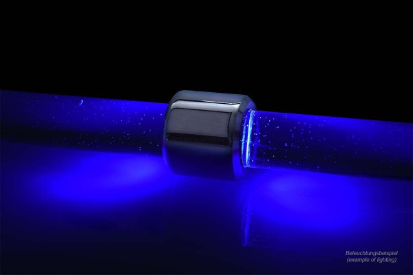 Alphacool Aurora HardTube LED ring 13mm chrome - blue