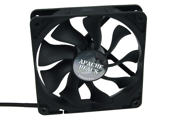 Akasa Apache 120mm PWM-Fan - black ( 120x120x25mm )