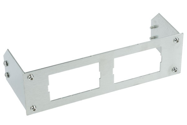 Phobya front faceplate for 2 displays - stainless steel