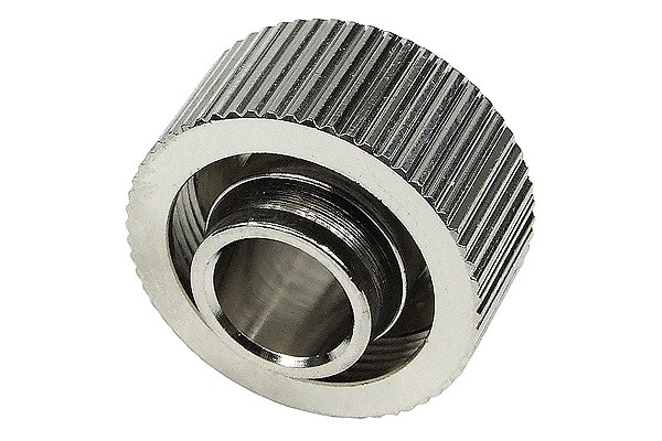 "19/13mm compression fitting straight G1/4"" - compact - silver nickel plated"