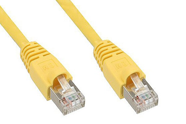 InLine® Patch cord, SF/UTP, Cat.5e, yellow, 1m