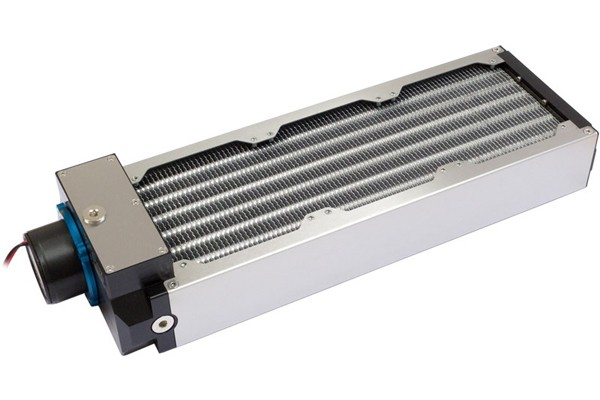 Aquacomputer airplex modularity system 360 mm, aluminum fins, D5 pump, stainless steel side panels