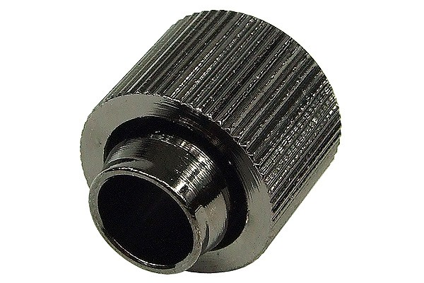 """16/13mm compression fitting straight G1/4"""" - compact - black nickel plated"""