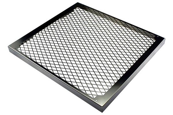 Watercool MO-RA3 420 radiator grill Rhombus stainless steel