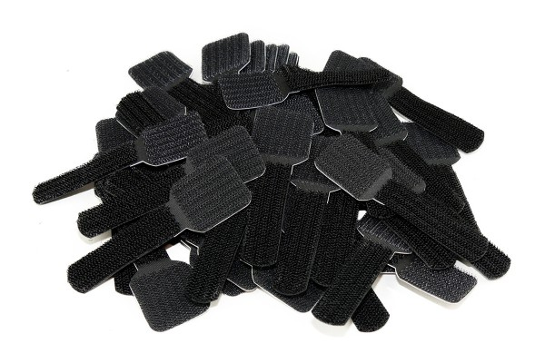 Label The Cable Cable Clips Adhesive LTC WALL STRAPS, 50 pc, black