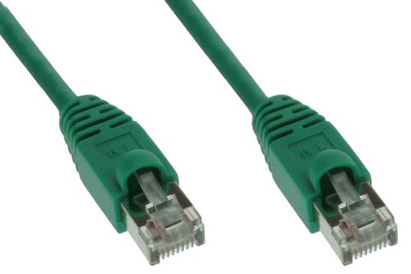 InLine® Patch cord, SF/UTP, Cat.5e, green, 3m