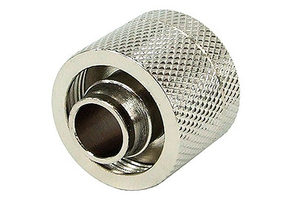 16/10mm compression fitting G1/4 - knurled – silver nickel
