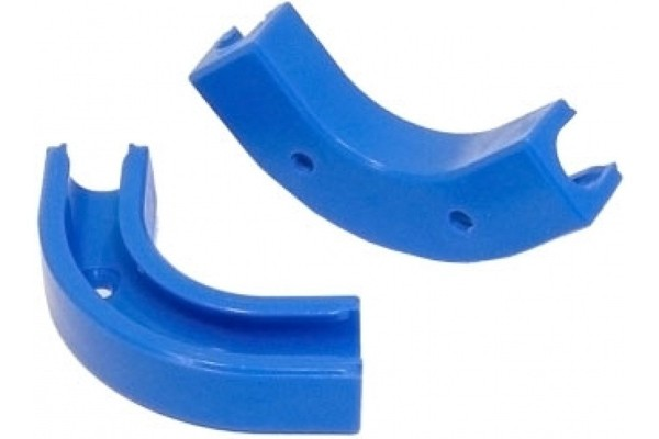 Angle clip 90° for 8/6mm tubing- blue