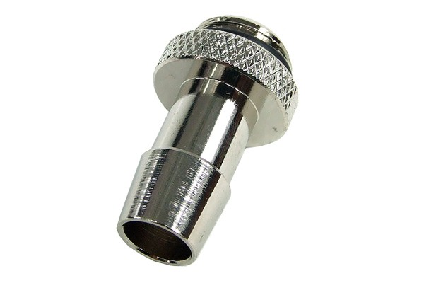 "10mm (3/8"") fitting G1/4 with O-Ring (High-Flow) - Short - Silver"
