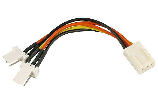 Y-cable 3Pin Molex to 2x 3Pin Molex