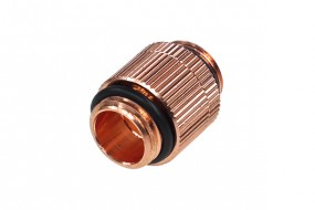 Alphacool double nipple G1/4'' outer thread to G1/4'' outer thread revolvable - shiny copper